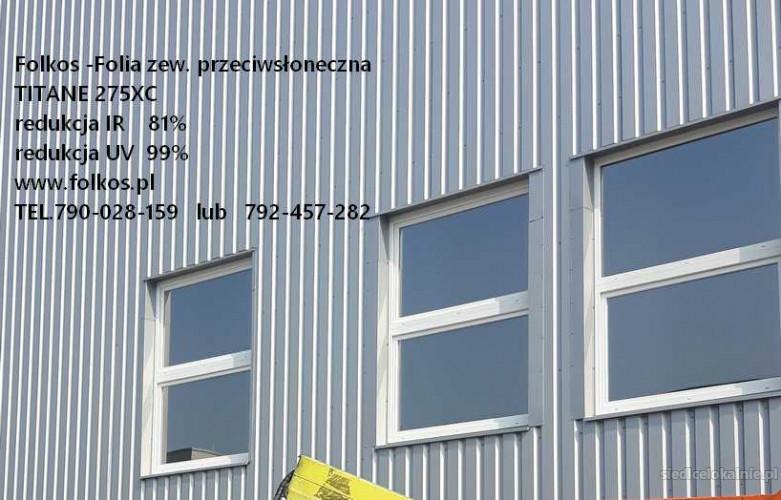 Folia przeciwsłoneczna zewnetrzna Titane 275XC -redukcja UV 99%, redkucja IR 81 % -Siedlce przyciemnianie szyb